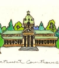 bathurst-courthouse-Etching - Greg Hyde Australian Artists, Hyde, Paintings, Painting Art, Painting, Painted Canvas, Drawings, Resim