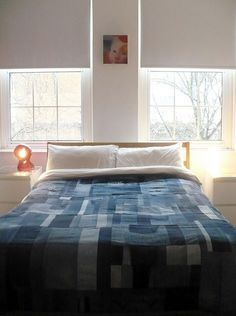 """Denim  scraps quilt. Too bad its listed as a denim """"don't"""", think I may make one for the girls' room..."""