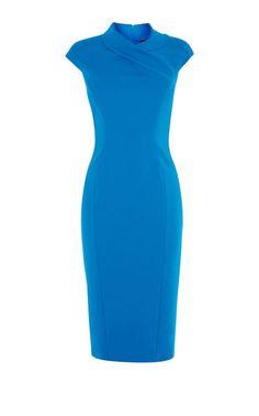 Karen Millen, BLUE PENCIL DRESS Blue