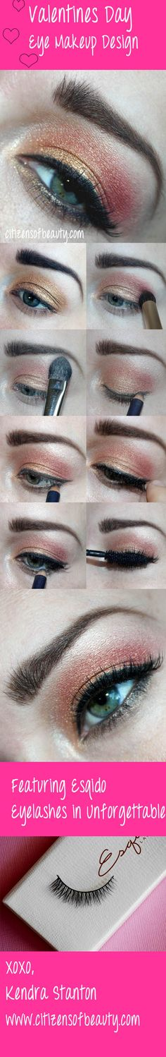 Valentines Day Eye Makeup Design Featuring: Esqido Mink Lashes #valentines #eyemakeupdesign #eyeshadow @citizensofbeauty