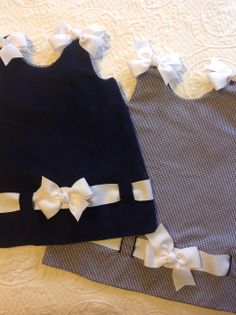 For those Yale fans...tailgate dress for your littlest fans!  www.facebook.com/designsbysimplygrace  #tailgatesfortots, #yale