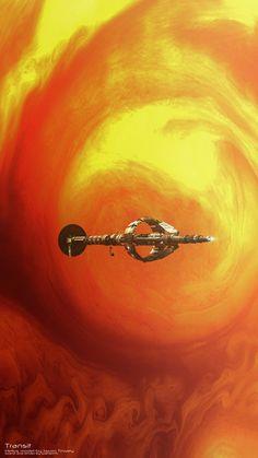 Helios model by Jason T, Shuttlestar by Kibaretto, planet models by Dario Fish. DS3 render w/ Photoshop.