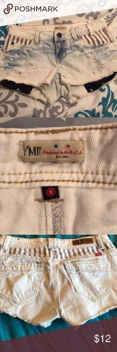 af62495198a6 YMI Distressed Denim Stars & Stripes booty shorts YMI USA Distressed denim  Shorts. Decorated navy