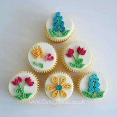 Quilling cupcakes.  @Nequia Washington