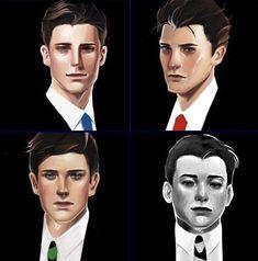 The boys Dick Grayson, Jason Todd, Tim Drake and Damian Wayne