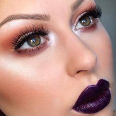 Glowy Makeup, Vampy Lips by @anele_alexandra | #motd #nyx #Pampadour www.pampadour.com