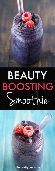 This smoothie is loaded with antioxidants that will make your complexion GLOW!