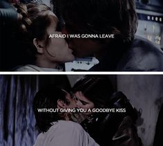 I always hated watching you leave.   (That's why I did it, so you'd miss me.) #starwars