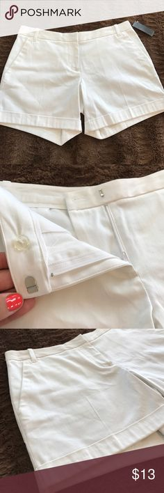 🌸White Shorts 🌸White Shorts, S/2, New w Tags  🌸Hold available on bundled items ONLY 🌸Next Day Shipping, No Shipping Sundays  🌸All Payments Through Posh Only 🌸Questions Welcomed   💞Natasha 😘 Attention Shorts