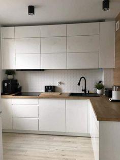 Home Kitchens, Home Interior Design, Ikea Kitchen, New Kitchen, Kitchen Interior, Interior Design Kitchen, Kitchen Dining, Interior Design Kitchen Small, Kitchen Cabinets