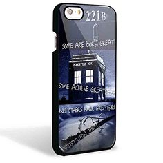 Dr Who Tardis Harry Potter Quotes for Iphone and Samsung Galaxy Case (Iphone 6 Black)