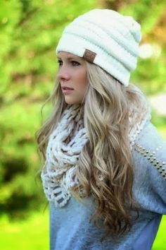 Love the beanie and scarf!
