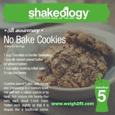 Delicious No Bake Cookies! Check out http://www.weigh2fit.com for more healthy recipes.