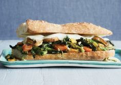 Philly-Style Broccoli Raab, Provolone, and Portobello Sandwich   Vegetarian Times