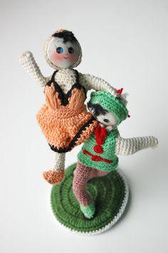 Adorable Little Crochet Dancing Couple