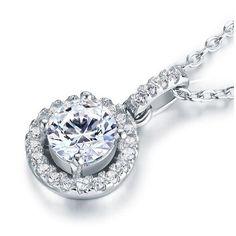 Copier en argent 925 et zircon AAA++ 48 euros Pink Pendants, Stone Pendants, 1 Carat, Heart Pendant Necklace, Drop Necklace, Sterling Silver Cross Pendant, Jewelry Companies, Bracelets, Just Because Gifts