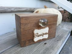 Hey, I found this really awesome Etsy listing at https://www.etsy.com/listing/170142935/rustic-recipe-box-rustic-kitchen-decor
