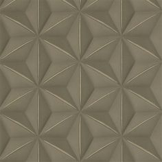 Brown & Gold illusion geometric playful contemporary home wallpaper R2925 #3dwallpaper #gold #modern #contemporary