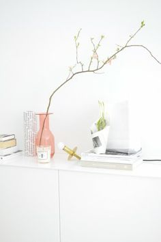 Pink Floating Nightstand, Interior Design Inspiration, Jpg, Habitats, Green Ideas, Home Furniture, Home And Garden, Household, Scandinavian
