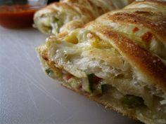 Stephanie Cooks: Roasted Vegetable Stromboli - Cheesy Vegetarian Stromboli recipe