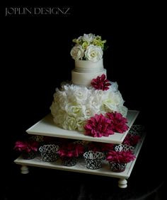 Cake stand cake plate cupcake stand Yes you can! You can have your cake....and your cupcakes too!