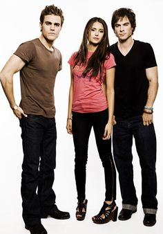 Stefan, Elena, and Damon {by Paria}