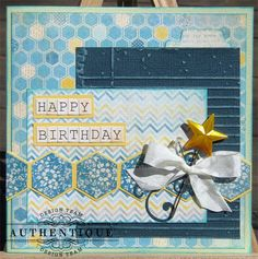 Summer Birthday Card by by Authentique Paper Design Team Member JJ Sobey