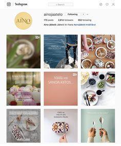 Aino-jäätelön sosiaalisen median strategia ja kattokonseptit (FB&Instagram). Instagram