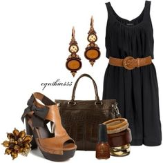 Black and brown chic style