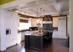 19 Beautifully Decorated L Shaped Kitchens For All Tastes Islands Subway Tile Backsplash And Transitional Kitchen