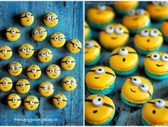 Makronky Minion Theme, Minion Birthday, Minion Party, Mini Cupcakes, Cupcake Cakes, Minions, Macaron Recipe, Sweets Cake, Chocolate Covered Oreos