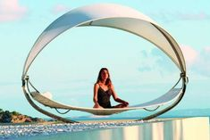 The Free-Standing Royal Botania Surf Lounger Creates its Own Shade #hammocks #relaxation trendhunter.com