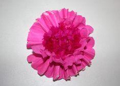 Kvety zo servitiek a krepového papiera 17
