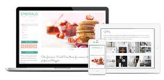 A Feminine Emerald and Pink WordPress Theme by Bluchic