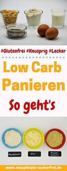Low Carb Panieren: In diesem Rezept verrate ich dir, wie du eine richtig leckere und glutenfreie Low Carb Panade ganz einfach selber machen kannst. Egal ob für Fleisch, Fisch, Gemüse oder Käse - mit diesem Rezept steht dem Low Carb panieren nichts mehr im Weg! #lowcarbdeutschland #lowcarb #lowcarbrezepte #panieren #frittieren #lchf #ohnekohlenhydrate #staupitopia #foodblogger #ohnemehl #glutenfrei #rezept
