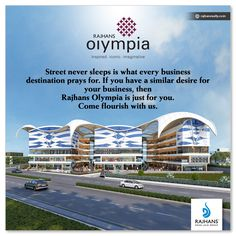 Street never sleeps is what every business destination prays for. If you have a similar desire for your business, then Rajhans Olympia is just for you. Come flourish with us. #RajhansOlympia #RajhansRealEstate #RajhansGroupOfIndustries #Surat