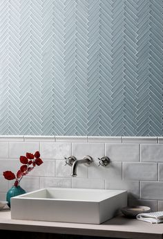 Glacier Grey Glass Herringbone Mosaic H O M E In 2019 intended for size 1312 X 1920 Mosaic Bathroom Wall Tiles - The restroom is one area with the house Modern Bathroom Tile, Bathroom Tile Designs, Bathroom Trends, Bathroom Interior Design, Bathroom Ideas, Bathroom Organization, Minimal Bathroom, Marble Bathrooms, Master Bathrooms