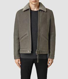 Men's Pilot Shearling Jacket (Mist) - product_image_alt_text_2