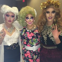 """Subtle looks for the children. with my idiots @kimchi_chic and @trannikarex !"" - Trixie Mattel"