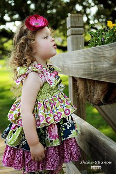 fairytale frocks and lollipops :: create kids couture, destinys triple ruffle top, girls, baby, infant, toddler, summer, spring, fall, school, church, play, boutique, ruffle, tiered, twirly, sewing, instant, e-pattern, download, pdf, e-book, tutorial, d#Repin By:Pinterest++ for iPad#