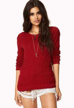 Mix Knit Sweater | FOREVER21 - 2000049311