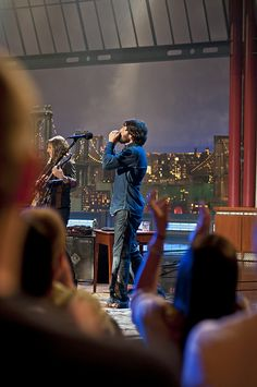 Ray Lamontagne on the Late Show with David Letterman. Shot by Loren Wohl