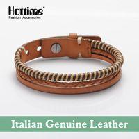 A Fine Jewelry Direction Braided Bijoux Bracelet Fashion Genuine Leather Italian Best Bracelets Friend Charming PG001