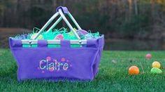 Girls Purple Personalized Easter Basket