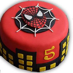 If you are planning a spiderman party here is a collection of spiderman cake ideas to help. Spiderman Torte, Spiderman Birthday Cake, 5th Birthday Cake, Superhero Cake, Themed Birthday Cakes, Themed Cakes, Batman Cakes, Spiderman Pasta, Men Birthday