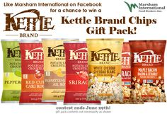 Contest ~ Enter to Win a Kettle Brand Chips Gift Pack! Sriracha Popcorn, White Cheddar Popcorn, Garlic Chips, Kettle Chips, Chips Brands, Maple Bacon, Branded Gifts, International Recipes, My Favorite Food