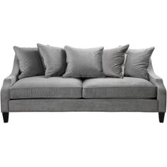 Brighton Sofa - Charcoal (2,220 CAD) ❤ liked on Polyvore featuring home, furniture, sofas, couches, charcoal grey sofa, charcoal gray furniture, charcoal grey couch, dark grey sofa and charcoal gray couch