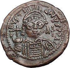 JUSTINIAN I 527AD Half Follis Cyzicus Authentic Ancient Byzantine Coin i55642