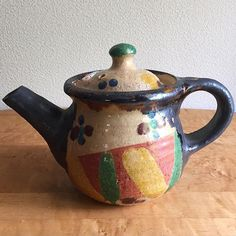 """""""Tea Pot by Haruko Kayama.  加山晴子のティーポット。  骨董市にて。  No Appointment Necessary Sunday.  明日22日(日曜日)は、アポイントメントの必要はありません。  営業時間は 13:00~18:00 となります。  お待ちしております。"""" Photo taken by @swimsuit_department on Instagram, pinned via the InstaPin iOS App! http://www.instapinapp.com (05/21/2016)"""
