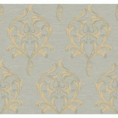 York Wallcovering Walt Disney Signature Acanthus Scroll Medallion Wallpaper WD29-5-6- #home #forthehome #decor #design #wallpaper #decorate #inspiration #homeinspiration